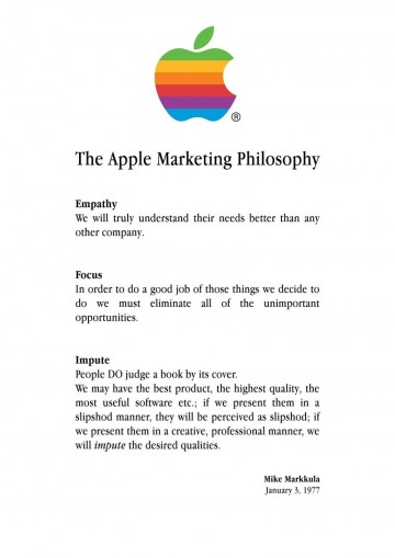 Apple Marketing Philosophy